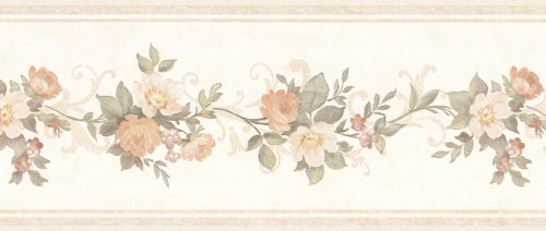 Wallpaper Floral Mirage (Mirage 992b07564 Lory Floral Border, Peach)