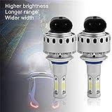 YTYC 2pcs High-Power 9005 COB Chip Driving Headlight LED Car Headlight 12000LM