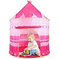 Keekos Hut Type Kids Toys Jumbo Size Play Tent House for Boys and Girls (Pink) Play Tent House for Kids Playhouse Foldable Kids Children's Indoor Outdoor Pop up Play Tent House Toy