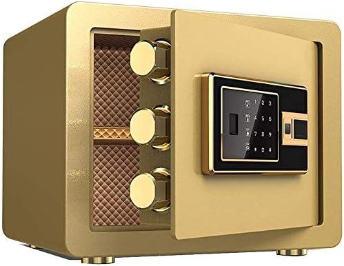ZSAIMD Caja fuerte segura biométrica de la huella electrónica de seguridad de contraseña segura con medio Oficina de Seguridad de Acero fuerte huella digital contraseña Seguros pequeños caja de seguri: Amazon.es: Bricolaje