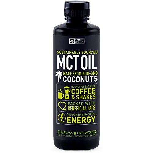 Premium MCT Oil derived only from Organic Coconuts – 32oz BPA free bottle | The only MCT oil certified Paleo Safe and registered by the Vegan Society. Non-GMO and Gluten Free.