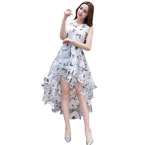 Big Sale Yetou Women Casual Dress Sleeveless Striped Butterfly PrintedVintage Daily Summer Dress Gray]()