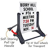 SmartSign Standard Portable Rolling Swinger Sidewalk Sign and Letter Kit | 42'' x 32''