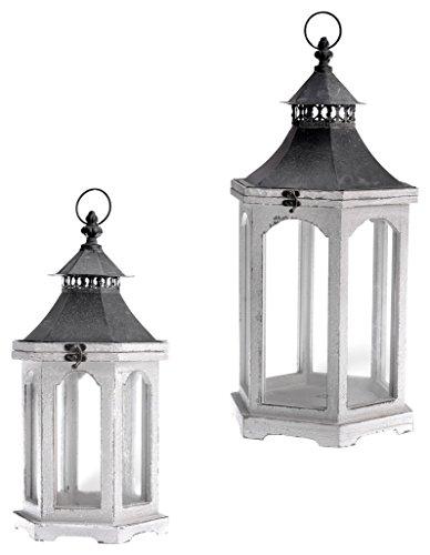 Boston International Distressed Wooden Lanterns product image