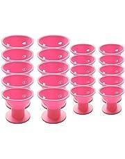 SODIAL 20 piezas de de Bigudi de pelo magico rosa Sin clip Sin calor Rizadores de