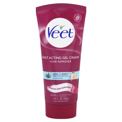 Veet Gel Cream Sensitive Formula Hair Remover With Aloe Vera And Vitamin E, 6.78 Ounce (Pack of 6)