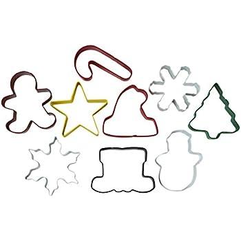 Wilton Metal Christmas Cookie Cutters - 9 Pack
