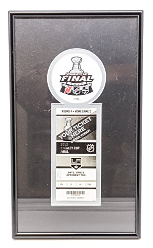 2012 Stanley Cup Los Angeles Kings vs New Jersey Devils Round 4 collector's ticket frame. (Los Angeles Kings Vs New Jersey Devils)