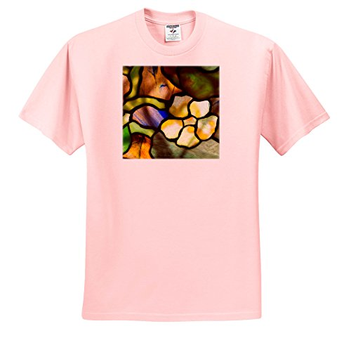 Price comparison product image 3dRose Danita Delimont - Artwork - New York, Tiffany Stained Glass lamp Shade. - T-Shirts - Youth Light-Pink-T-Shirt Large(14-16) (ts_279255_46)