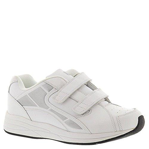 Drew Shoe Men's Force Velcro Athletic Walking Shoe,White,13 6E (Drew Mens Athletic Shoe)