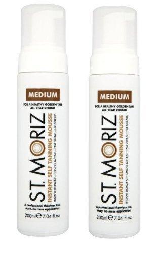 St. Moriz Instant Self Tanning Mousse Medium 200Ml - Pack of 2