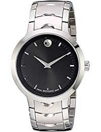 Mens Swiss Quartz Stainless Steel Watch, Color: Silver-Toned (Model: 0607041