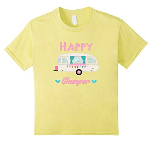 Kids Happy Glamper - Glamour Camping Glamping Camp T-Shirt 8 - Glamour Tee Girl