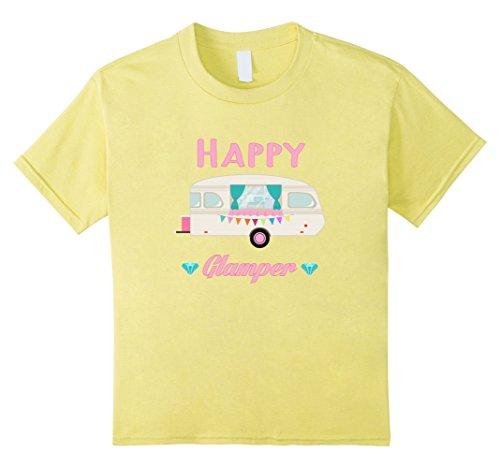 Kids Happy Glamper - Glamour Camping Glamping Camp T-Shirt 8 - Tee Glamour Girl