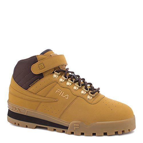 Fila Mens Boots - Fila Men's f-13 Weather tech-m, Wheat/Espresso/Medium Gold, 13 M US