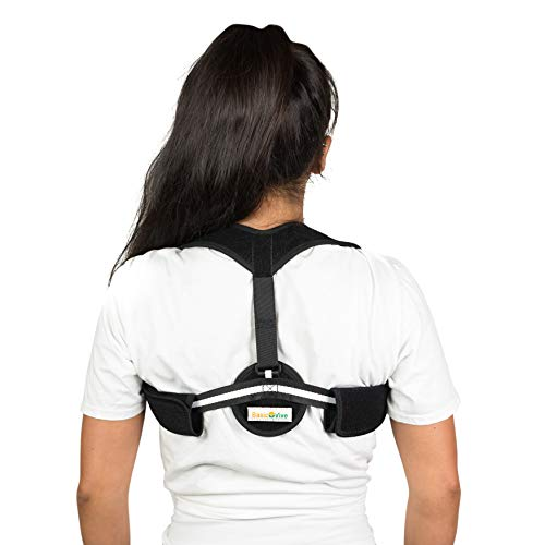 Posture Corrector for Women Men - Upper Back Pain Shoulder Support Neck Pain Relief - Comfortable Back Posture Brace - Clavicle Posture Support for Slouching Hunching - Discreet Design by BasicVive by BasicVive