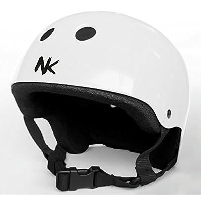Casque pour scooter skate BMX nokaic Blanc Taille S (51–53cm)