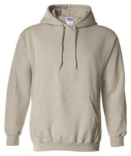 Gildan 18500 - Classic Fit Adult Hooded Sweatshirt Heavy Blend - First Quality - Sand - Large