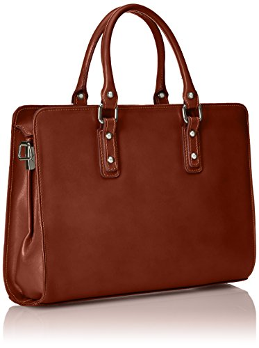 handles Italy Leather with for Made in Genuine model women Satchel Marrone Italian 100 Brown xPtwBwq