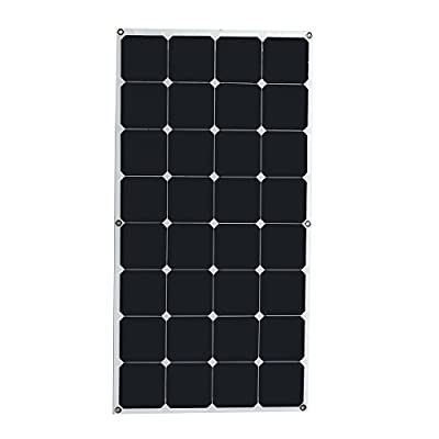 New 2Pcs Elfeland 32-10C 100W 18V Solar Panel Semi-Flexible Monocrystalline 1050mm x 540mm By koko