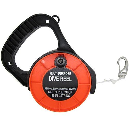 Scuba Choice Scuba Diving Multi Purpose Dive Reel, 150, Orange