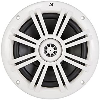 "Kicker 41KM604W 6-1/2"" 6.5"" KM-Series 150W Peak/50W RMS Marine Speakers KM60 New 41DqxS-EP3L"