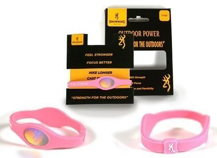 Power Balance Browning Hunting Womens Bracelet - Outdoor Power - Pink - Small