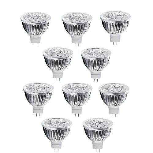 OMTO MR16/GU5.3 12V 4W LED Bulbs Warm Light 3000K LED Spotlights -35Watt Equivalent - 350 Lumen High Power Lamp 30 Degree Beam Angle for Landscape Recessed Track Lighting(10-Pack)