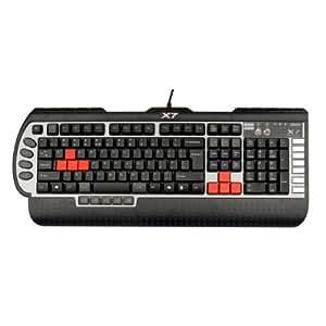 A4Tech X7-G800V-DE - Teclado (USB, PC/server, Juego, Negro, Plata, 1 piezas)