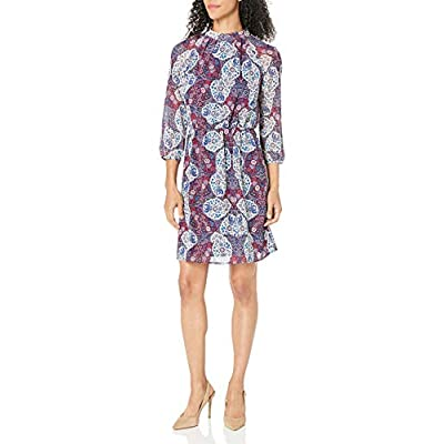 James & Erin Women's High-Neck Georgette Dress: Clothing