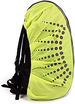 1 x backpack rain cover Waterproof Dust Rain Cover Camping Backpack Hiking Rucksack Bags High Visibility Waterproof Backpack Dust Rain Cover Camping Hiking Rucksack Bags Cover 1 x storage bag