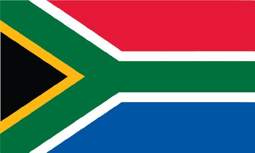 Africa Flags - Shoe String King SSK South Africa Outdoor Flag - Large 3' x 5', Weather-Resistant Polyester