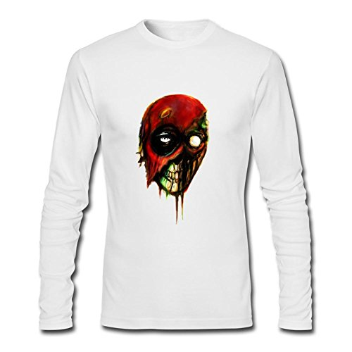 WANTAI Men's Deadpool Zombie Long Sleeve Cotton T (Great America Halloween Schedule)