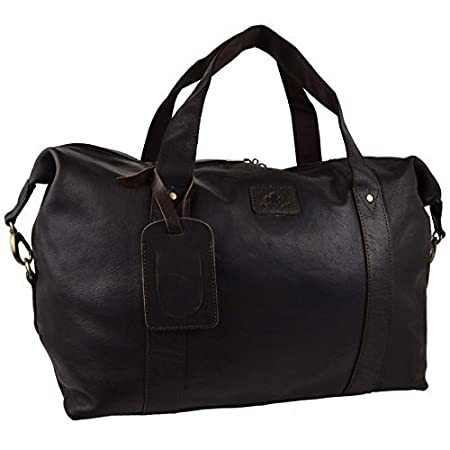 264d2bbbda Mens Large Dark Brown Buffalo LEATHER Holdall Travel BAG by Rowallan of  Scotland  Amazon.co.uk  Luggage