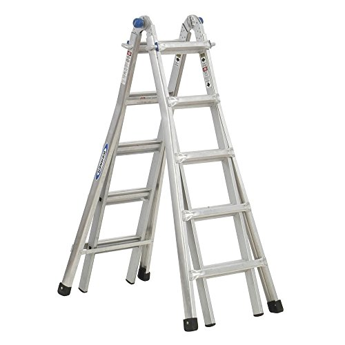 22' Aluminum Base (Werner MT-22 300-Pound Duty Rating Telescoping Multi-Ladder, 22-Foot)