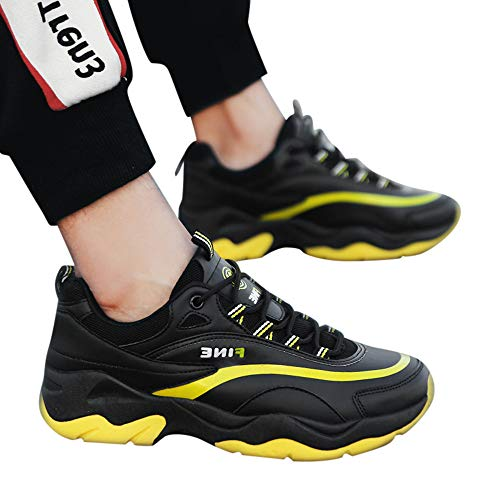 SSYUNO Big Sale Men's Leather Flat Shoes Comfortable Casual Shoes Breathable Non-Slip Sneakers,39-44 (Mule Saddle Trail)