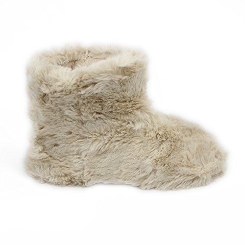 Gohom Dames Warme Winter Indoor Slipper Boots Huis Beige