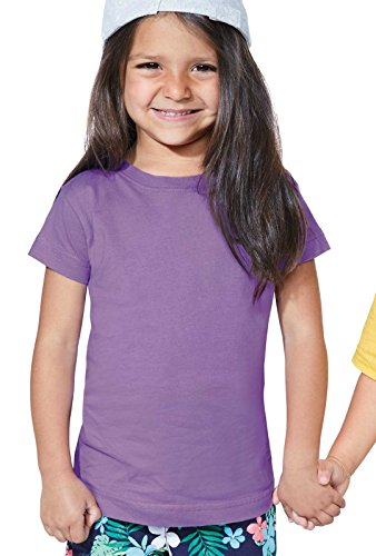 (Rabbit Skins Toddler Girls' 100% Cotton Jersey Short Sleeve Tee (White, 3 Toddler))