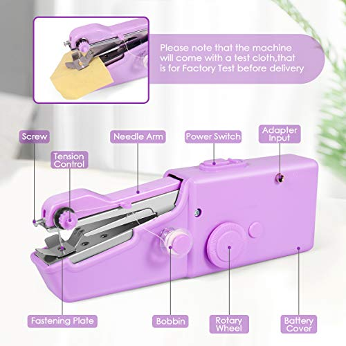 Handheld Sewing Machine Machine Electric Stitch Tool for Fabric Quick Repairing Suitable for Clothing Mini Handy Cordless Portable Sewing