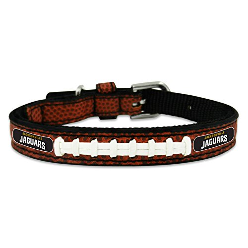 (GameWear NFL Jacksonville Jaguars Classic Leather Football Collar, Brown)