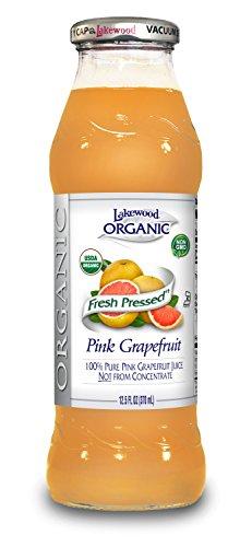 Lakewood Organic PURE Pink Grapefruit Juice, 12.5-Ounce Bottles (Pack of 12)
