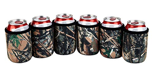 (TahoeBay 12 Can Sleeves - 5mm Thick Neoprene - Premium Beer Coolies for Cans and bottles - Bulk Blank Energy Drink Coolers – Create Custom Wedding Favor, Funny Party Gift)