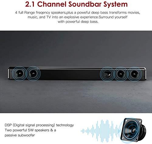 Sound Bar Subwoofer ABOX Soundbar TV 34 Inch 120W 2.1 Channel Speaker  Wireless