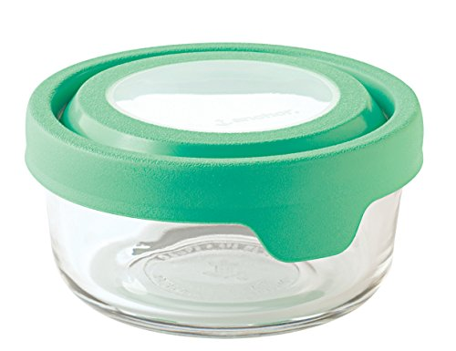 Anchor Hocking TrueSeal Glass Food Storage Container with Airtight Lid, Light Green, 1 Cup - Key Lime Container