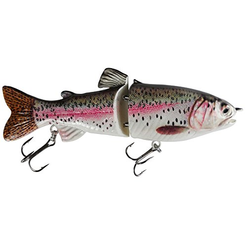 """Two Section Glide Swimbait """"S"""" Curve Swimming 7 Inch Jointed Fishing Lures Hunter for Bass Pike Muskie (wc-734)"""