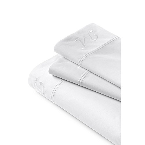 Lands' End School Uniform 200 Percale Solid Pintuck Sheets, XLT, White by Lands' End