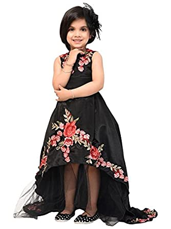 Samsara Couture Baby Girl Tail Gown Dress For Birthday Black Amazon