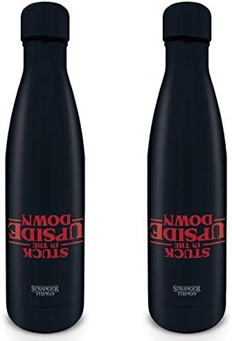 Stranger Things MDB25388 - Botella de Metal (500 ml), diseño con Texto en inglés Stranger Things, Unisex, 500 ml