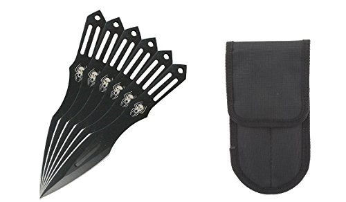 Shinobi and .com 6 Pcs 5.5 Inches Black Widows Spider Throwing Knife Set