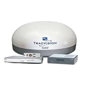 KVH TracVision R6DX w/Multi-Service Box for use with DIRECTV Dish Network or Bell TV/Express Vu - White